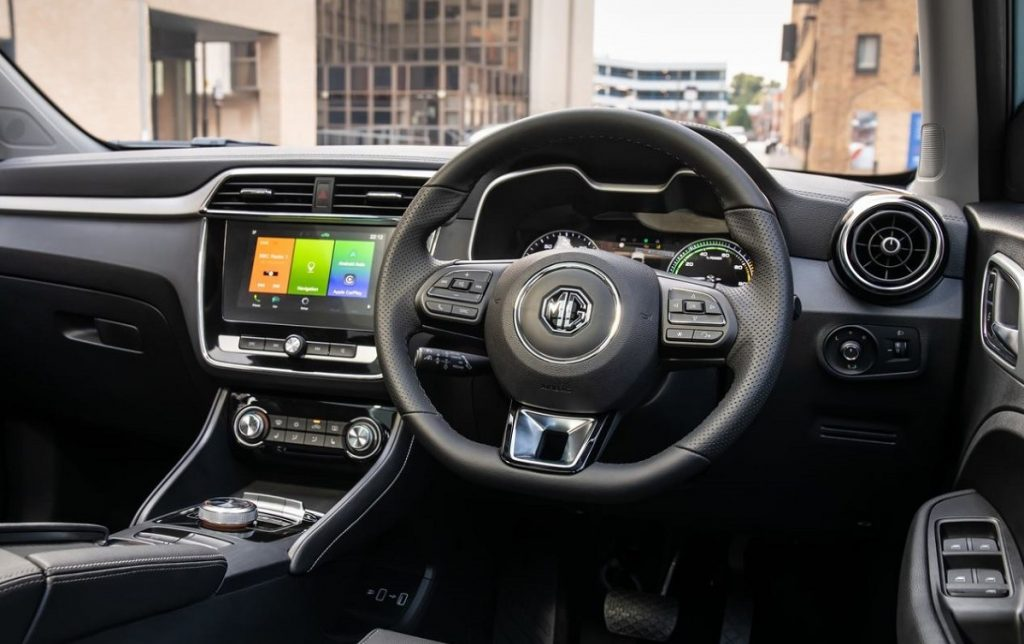 Imagen interior del MG ZS EV