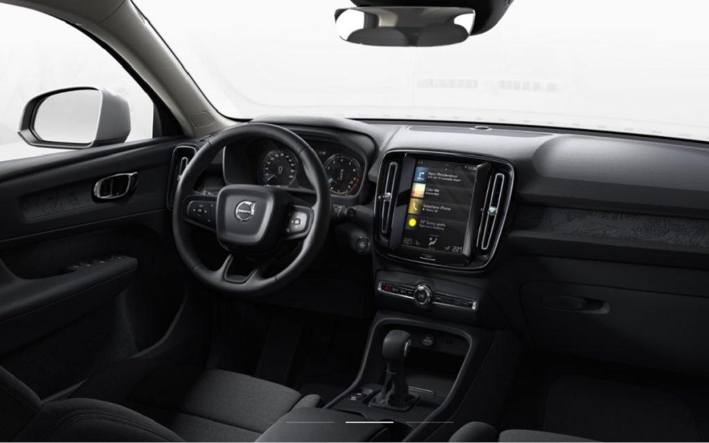 Imagen interior del Volvo XC40