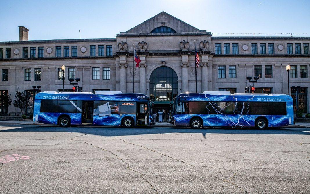 Imagen de los Autobuses BYD recibidos en Georgia