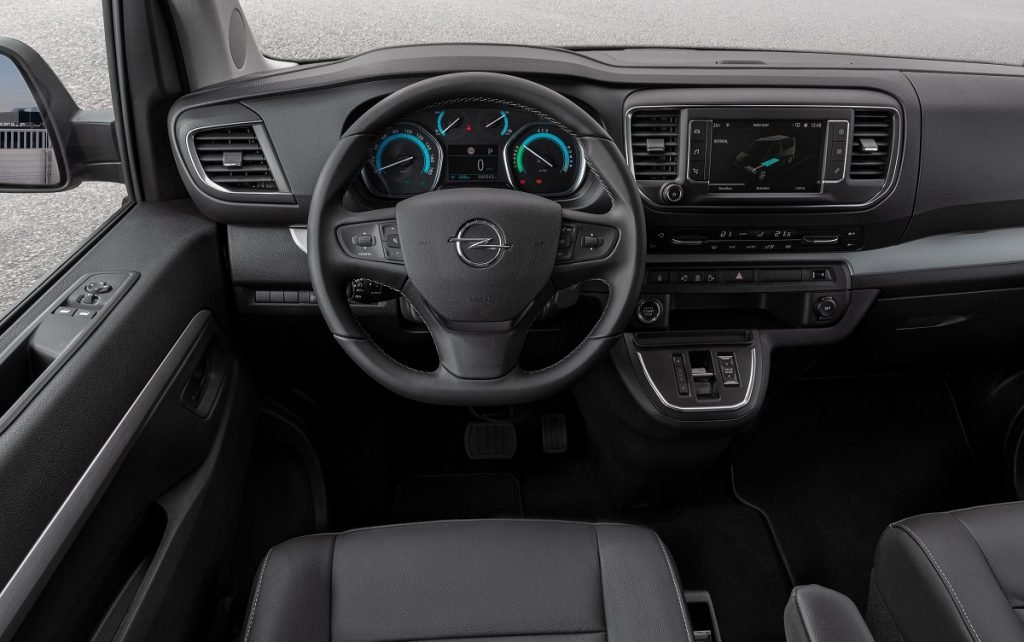 Imagen interior de un Opel Zafira-e Life