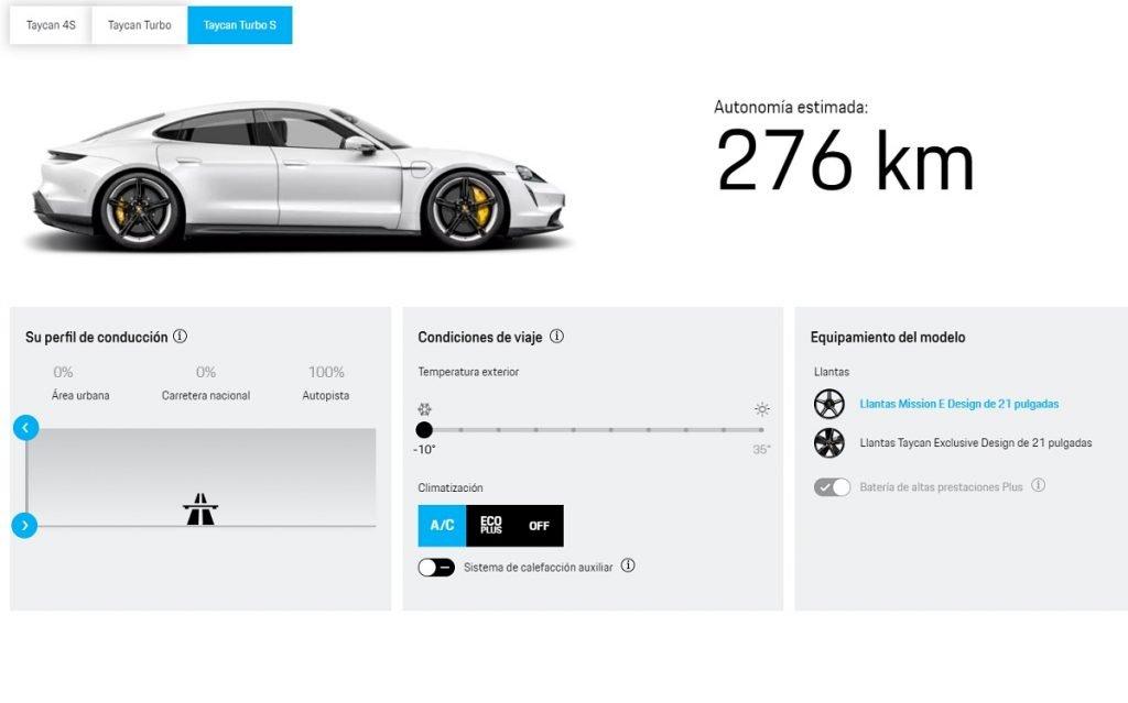 autonomía Porsche Taycan