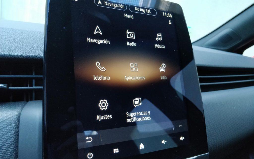 Imágenes sistema multimedia Renault Clio