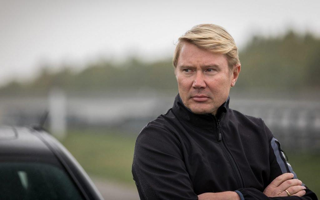 Imagen de Mika Hakkinen, representando a Nokian Tyres