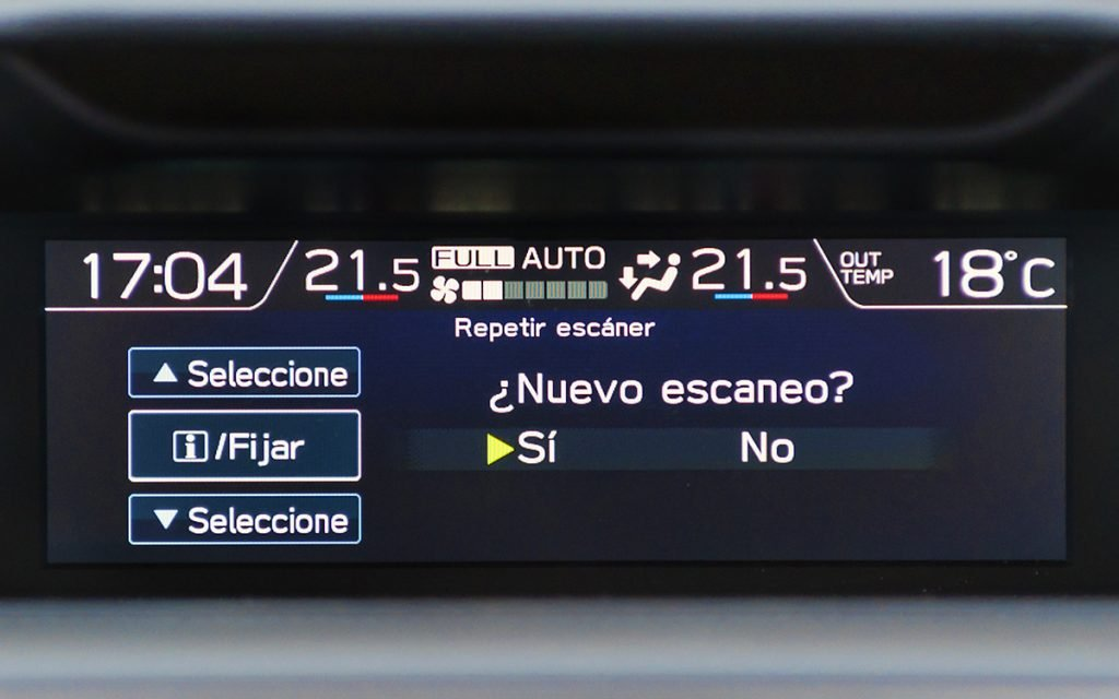 Escaneo EyeSight del Subaru Forester Hybrid