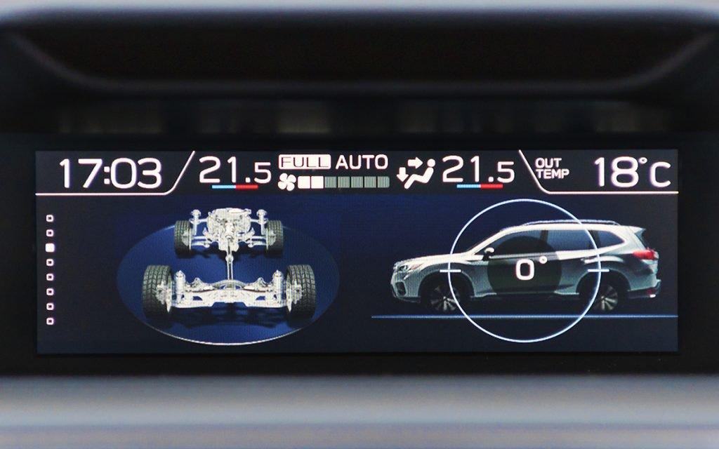 Pantalla AWD del Subaru Forester Hybrid