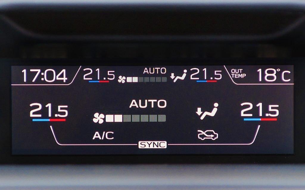Climatización en el Subaru Forester Hybrid