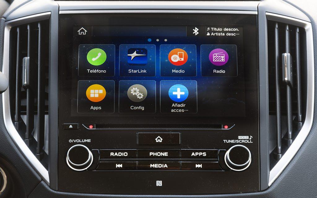 Home sistema multimedia del Subaru Forester Hybrid