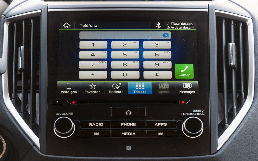Telefonía en el sistema del Subaru Forester Hybrid