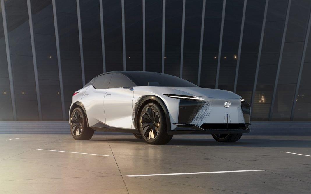 Imagen frontal del Lexus LF-Z Electrified