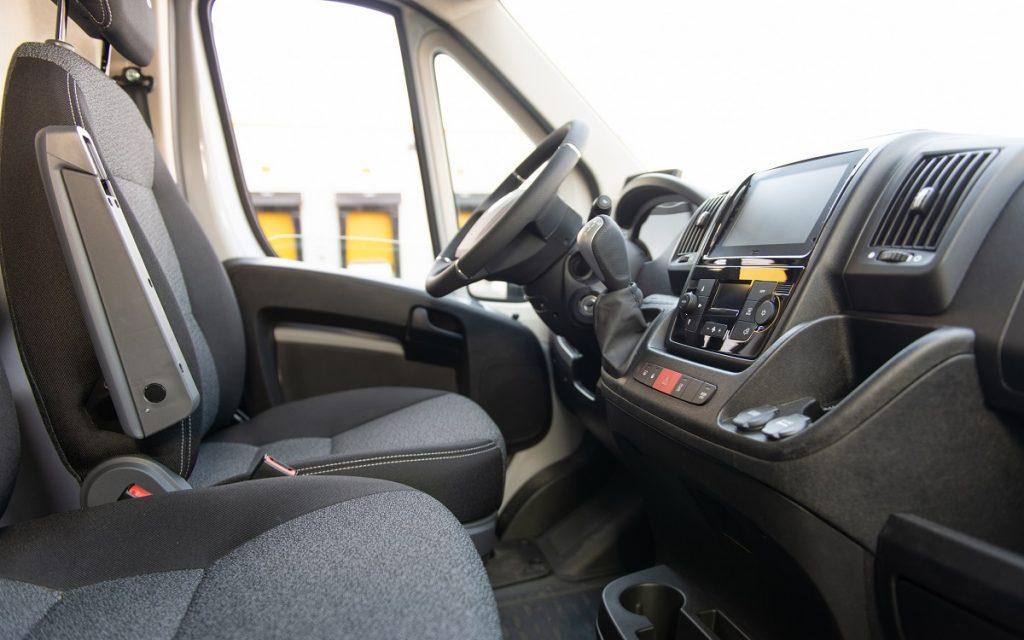 Interior del Fiat e-Ducato