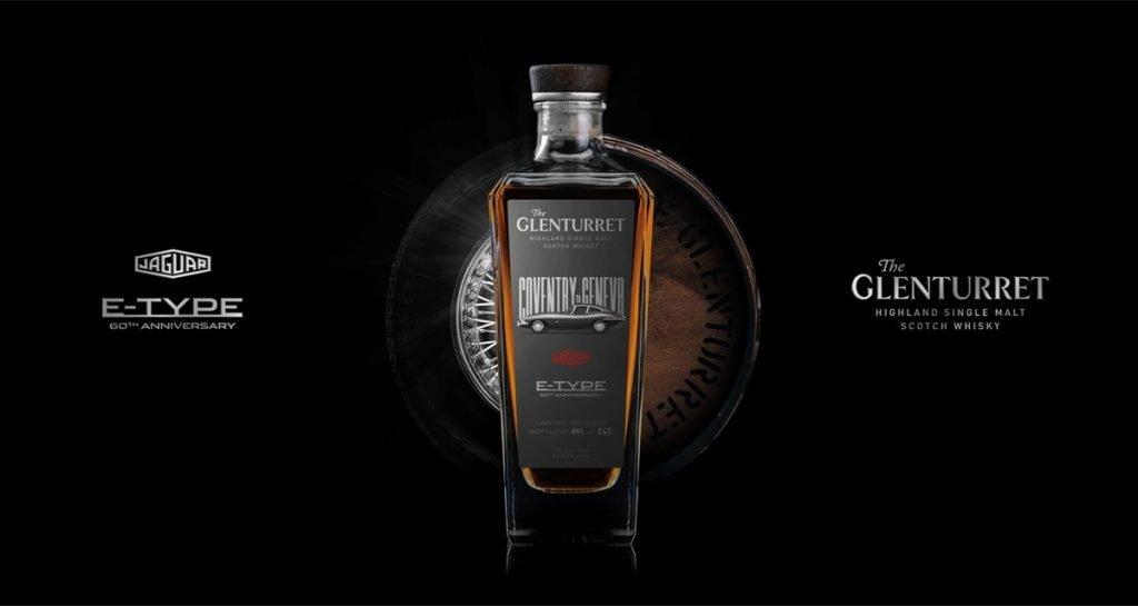 Botella de Whisky Glenturret en honor al Jaguar E-Type