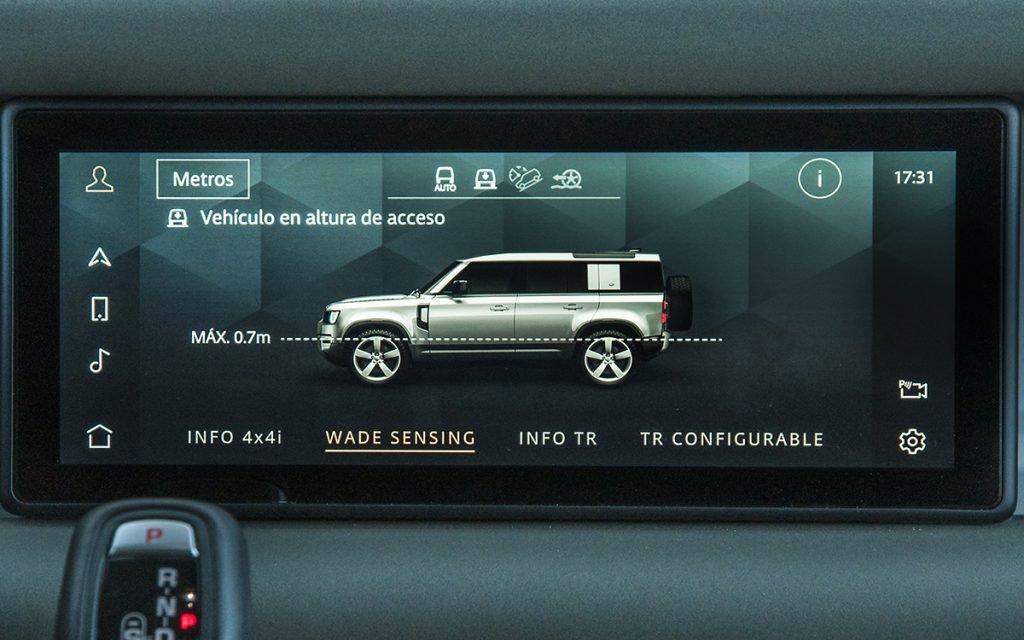 Información de vadeo en el Land Rover Defender