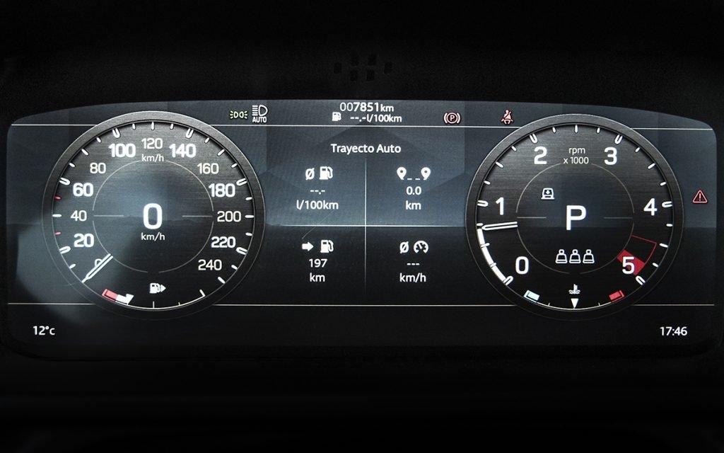 Virtual Cockpit del Land Rover Defender