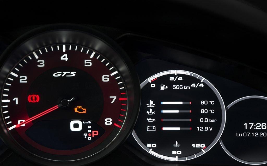 Panel de instrumentos del Porsche Cayenne GTS