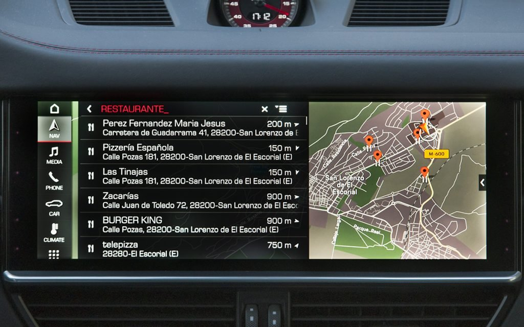 Navegación en el Porsche Cayenne GTS