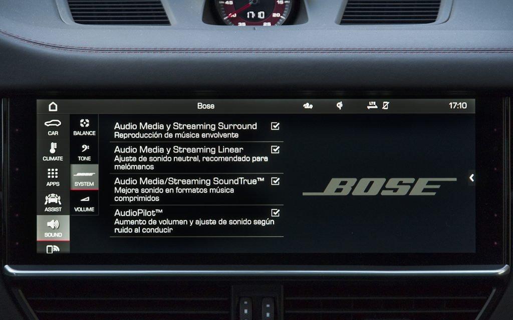 Ajustes equipo audio Bose del Porsche Cayenne GTS
