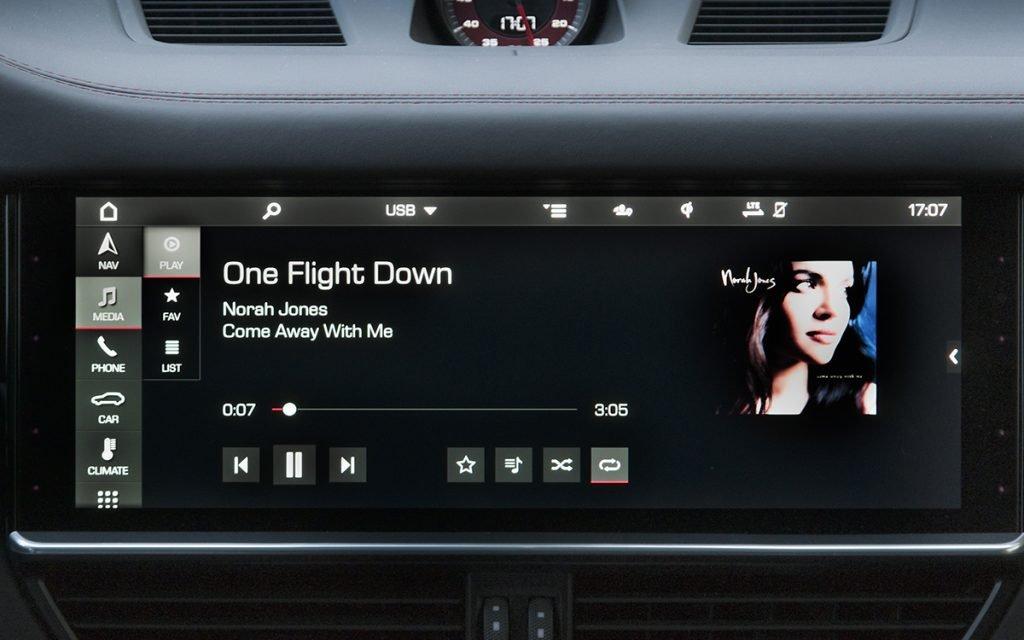 Reproducción de música en el Porsche Cayenne GTS