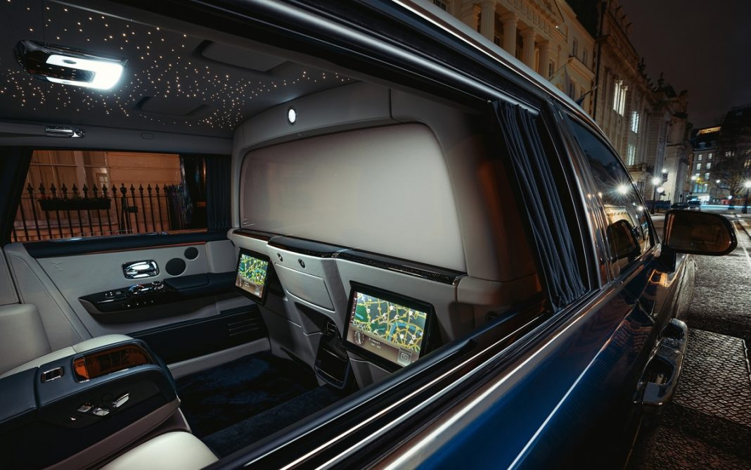 Detalle de la Rolls-Royce Privacy Suite