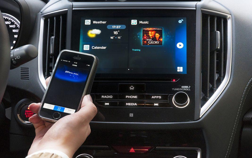 Imagen de un móvil con Subaru StarLink