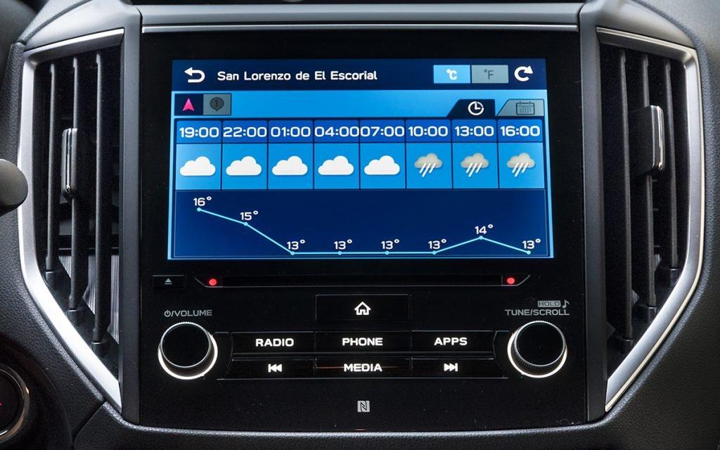 Previsión del tiempo en Subaru StarLink