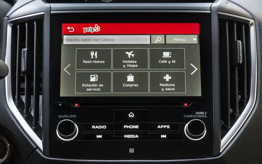 App Yelp en Subaru StarLink
