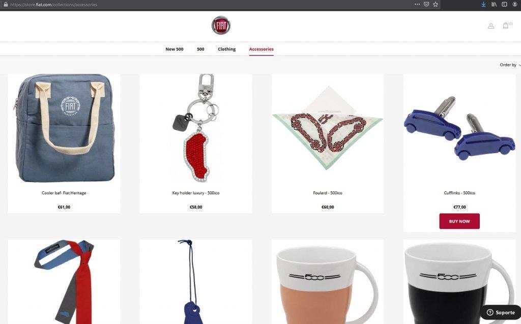 Imagen tienda web Fiat