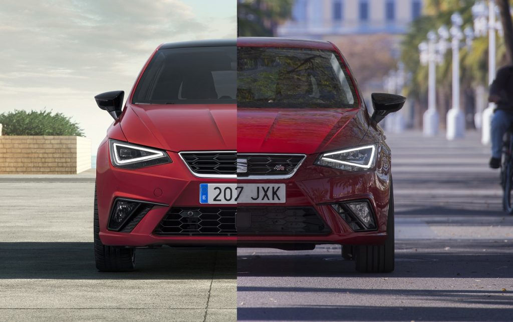 Imagen comparativa Seat Ibiza 2021 y 2017