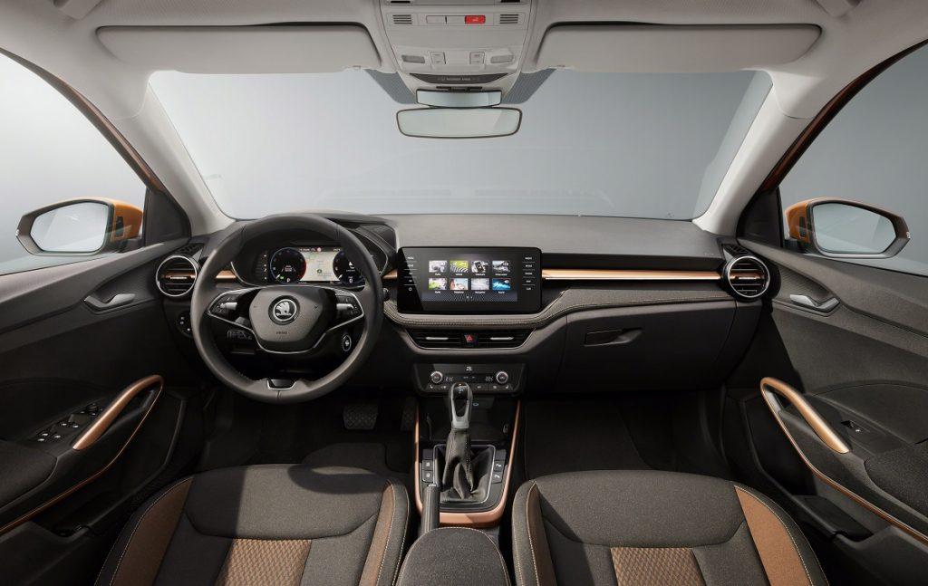 imágenes del interior del Skoda Fabia 2021
