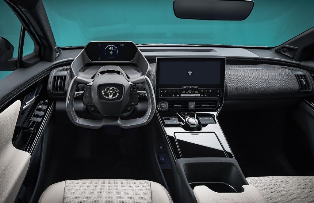 Imagen del nuevo Toyota bz4x por dentro