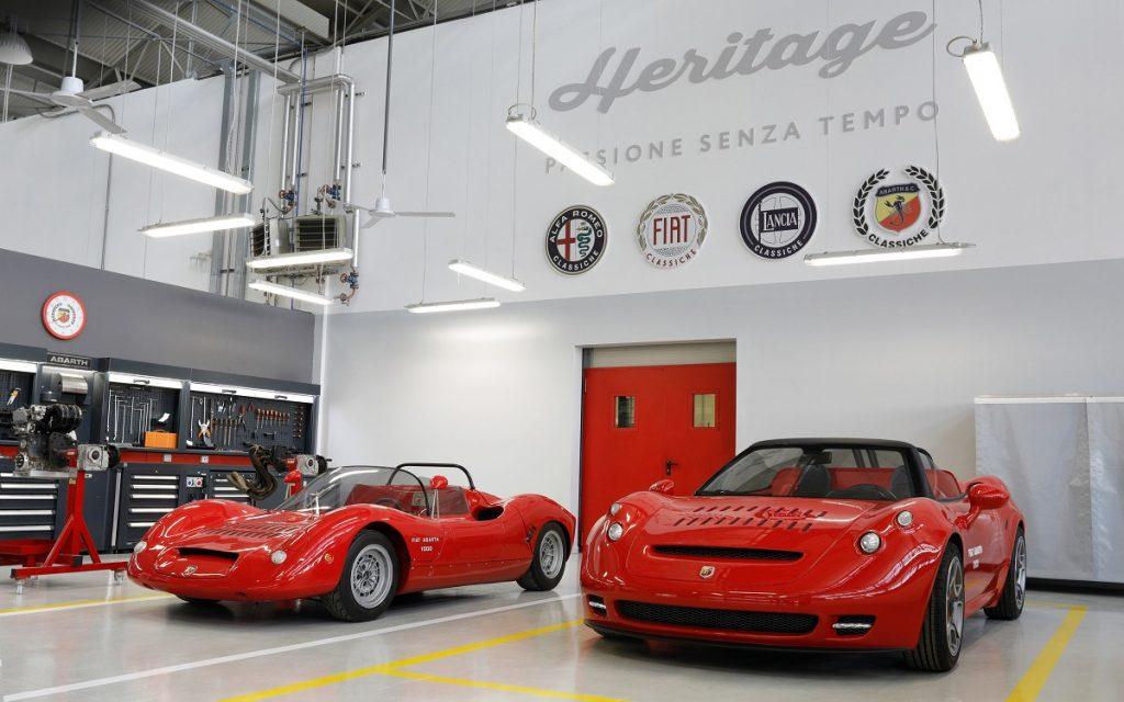 Imagen de los Abarth 1000 SP en la sección Heritage de Fiat Abarth