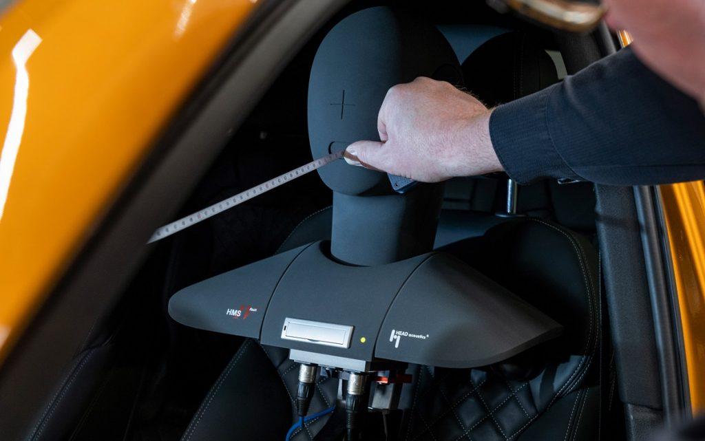 laboratorio de control de ruidos de Audi