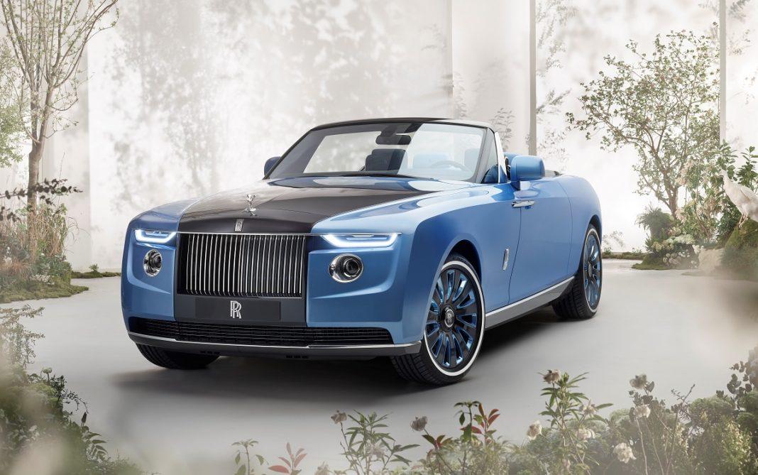 Imagen frontal del Rolls-Royce Boat Tail