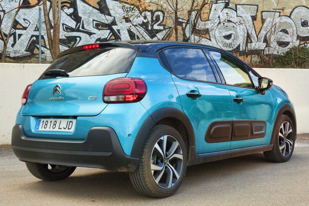 Imagen posterior del Citroën C3