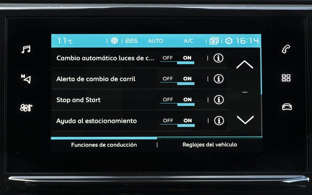 Opciones de ADAS en el Citroën C3