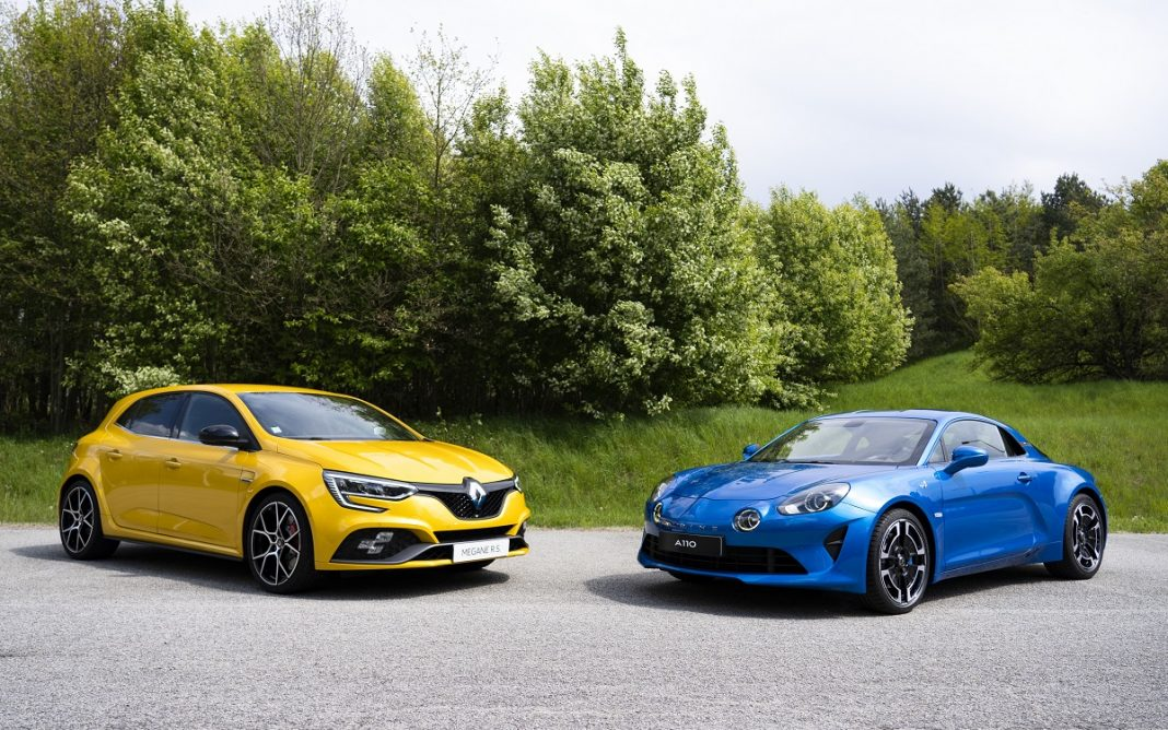 Imagen de un Renault Sport y un Alpine