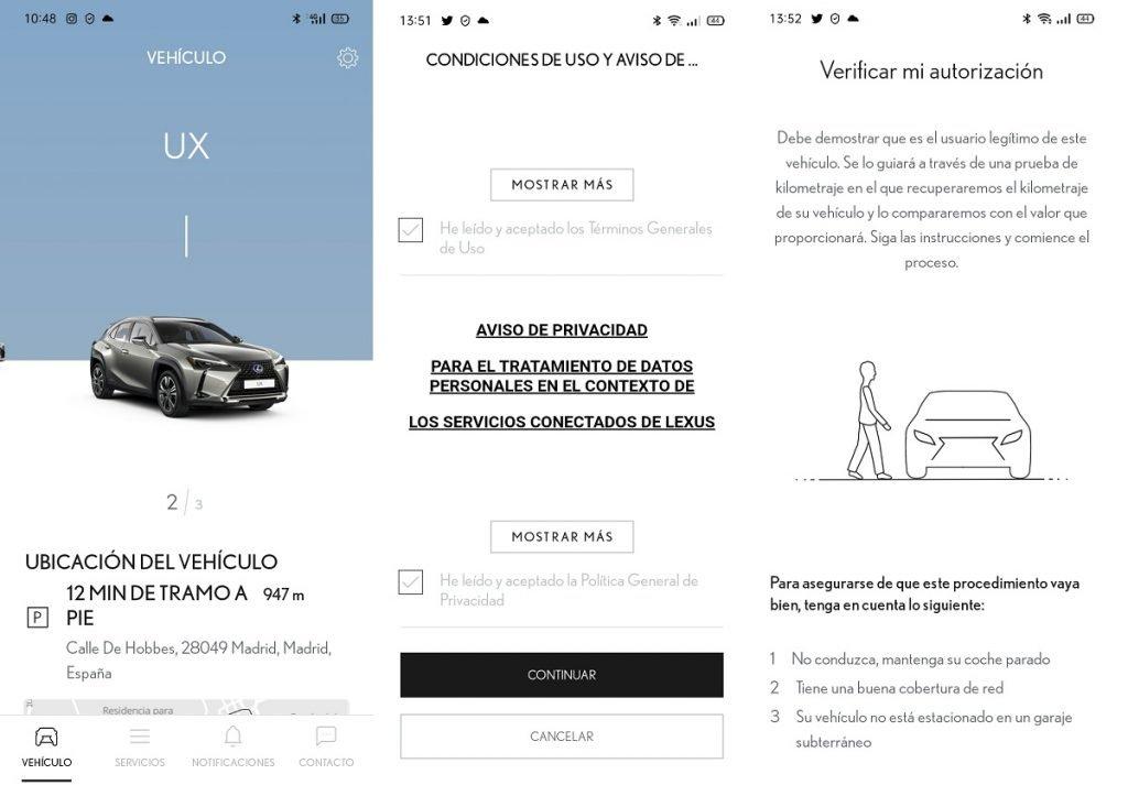 app de Lexus