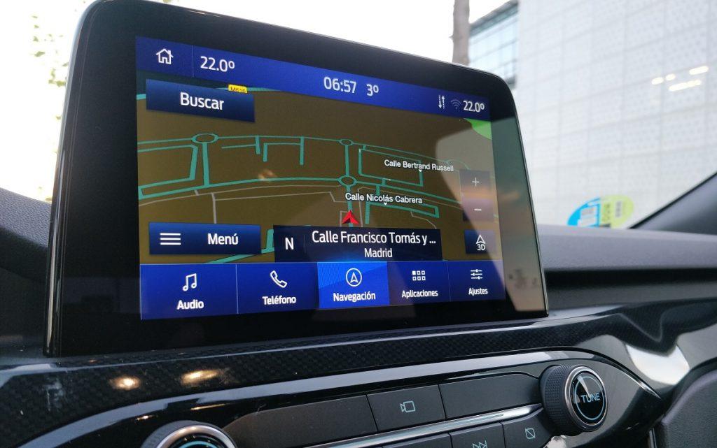 Pantallas del sistema multimedia del Ford Kuga