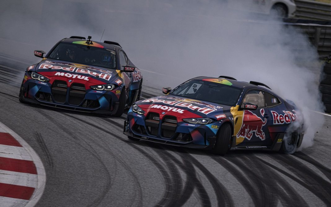 Imagen de los dos BMW M4 de Drifting