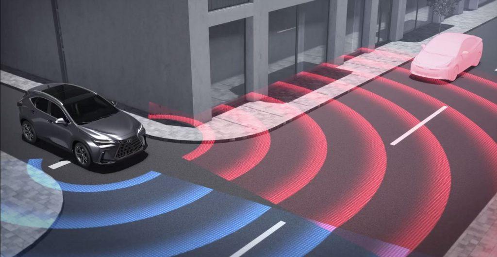 Esquema del Lexus NX Front Cross Traffic Alert