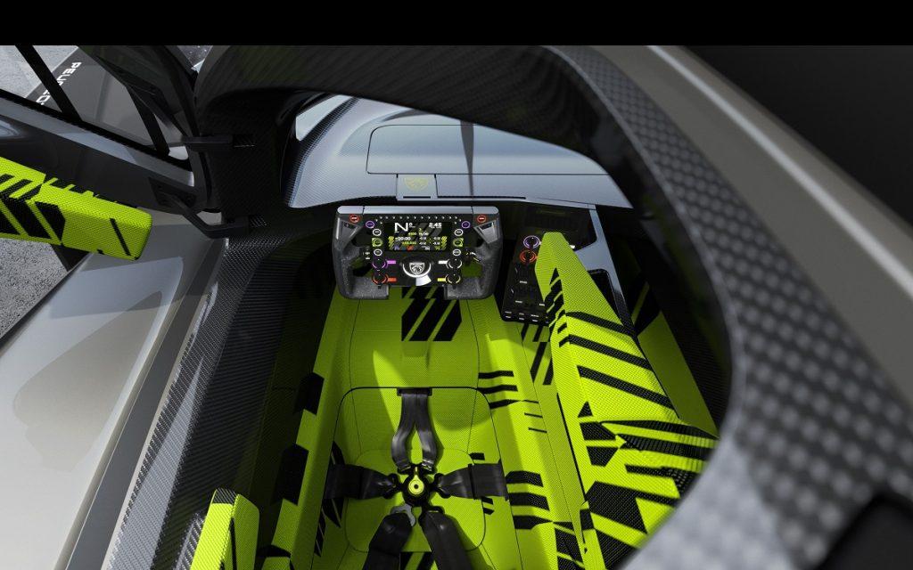 Cockpit del Peugeot 9X8 Hypercar