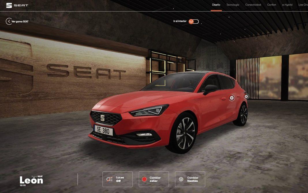 Exterior del Seat León en la Seat Virtual Experience