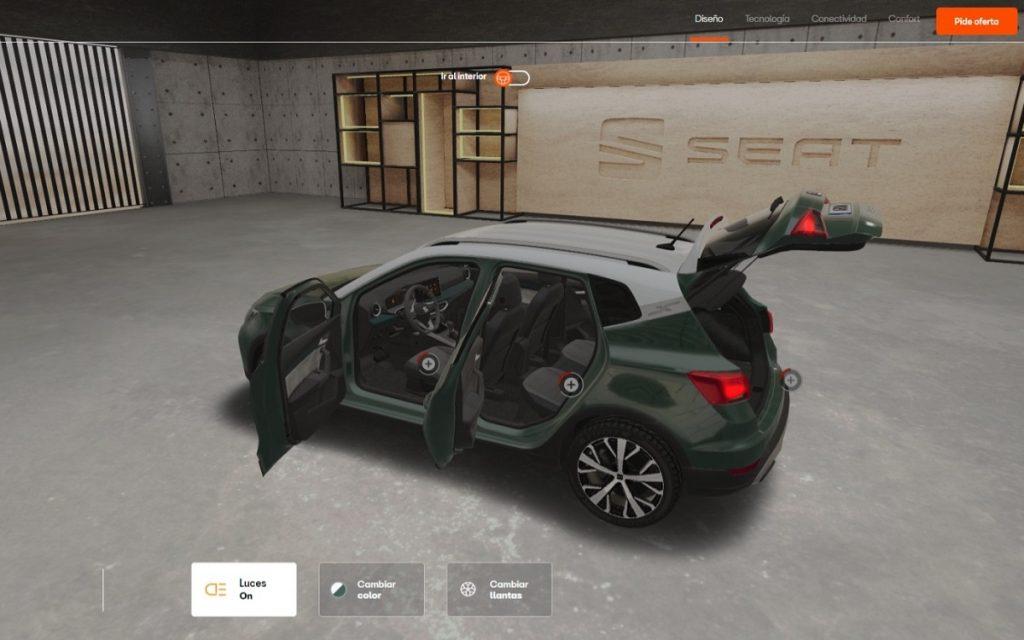 Seat Arona en la Seat Virtual Experience