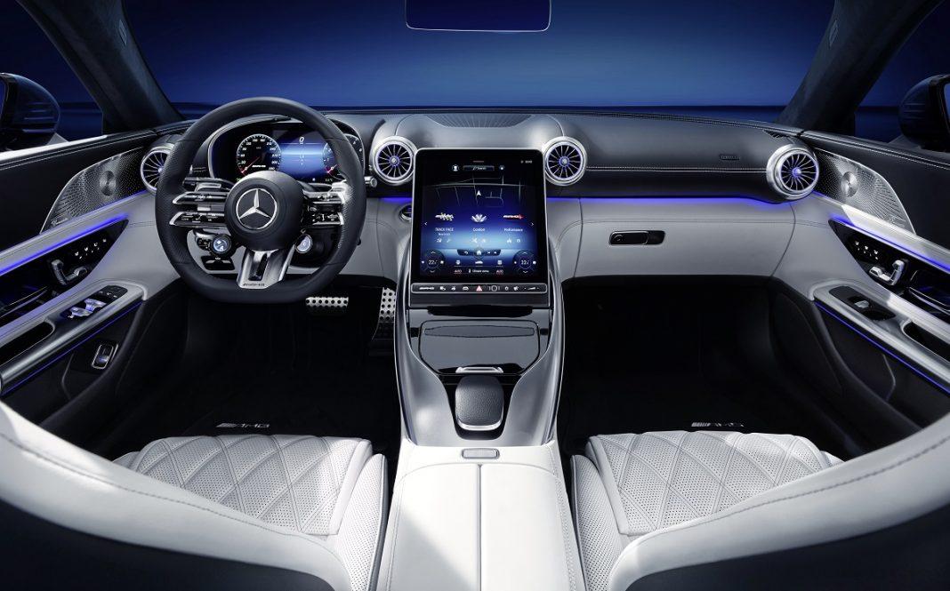 interior del nuevo Mercedes SL