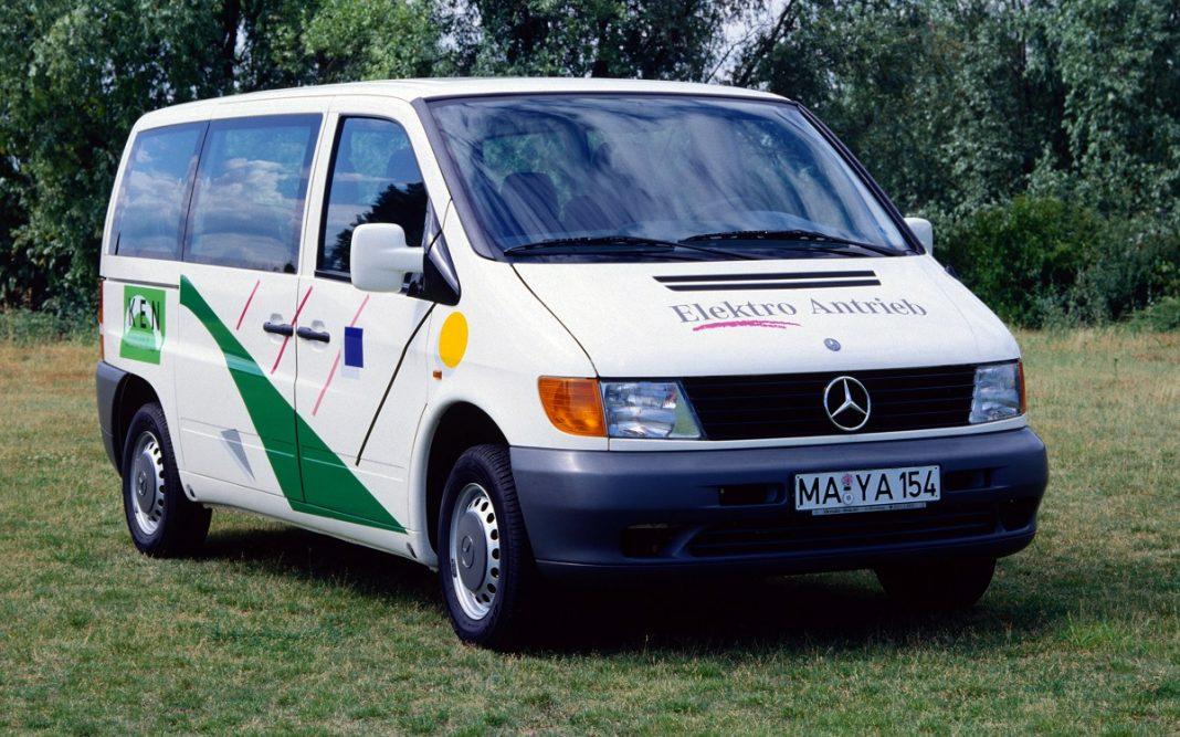 imagen de un Mercedes Vito eléctrico