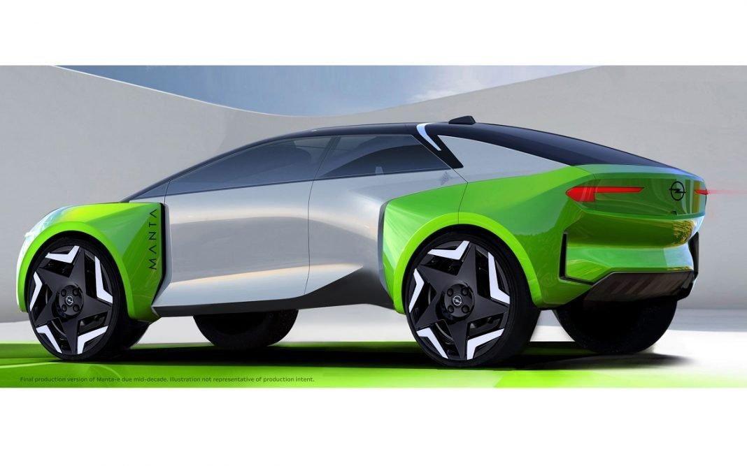imagen de un futuro Opel Manta-e Concept
