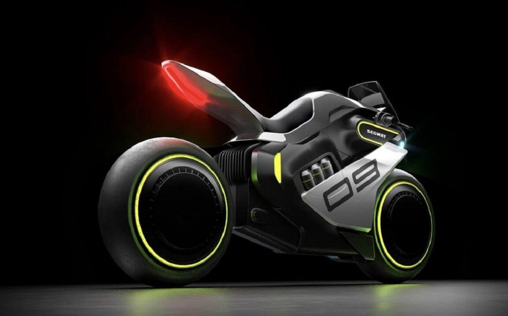 Imagen tres cuartos trasero Moto de hidrógeno
