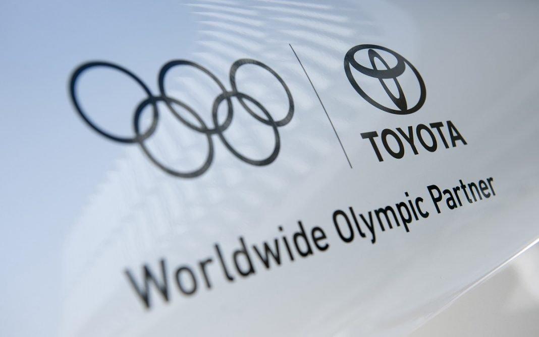 Imagen del logo de Toyota y los juegos olímpicos