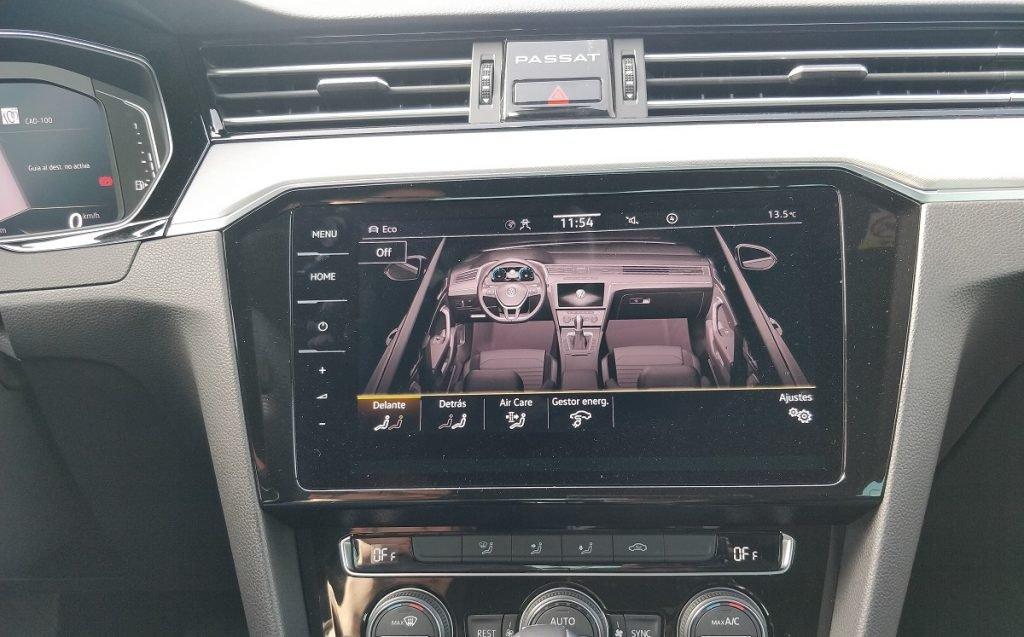 detalles sistema multimedia Passat