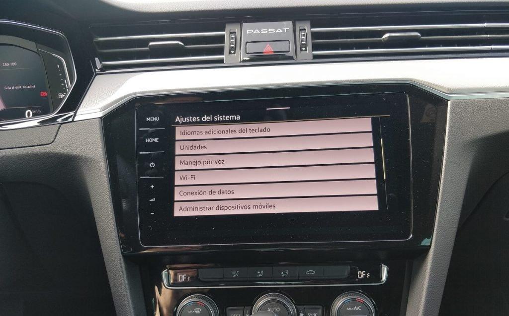 detalles del sistema multimedia del Passat GTE