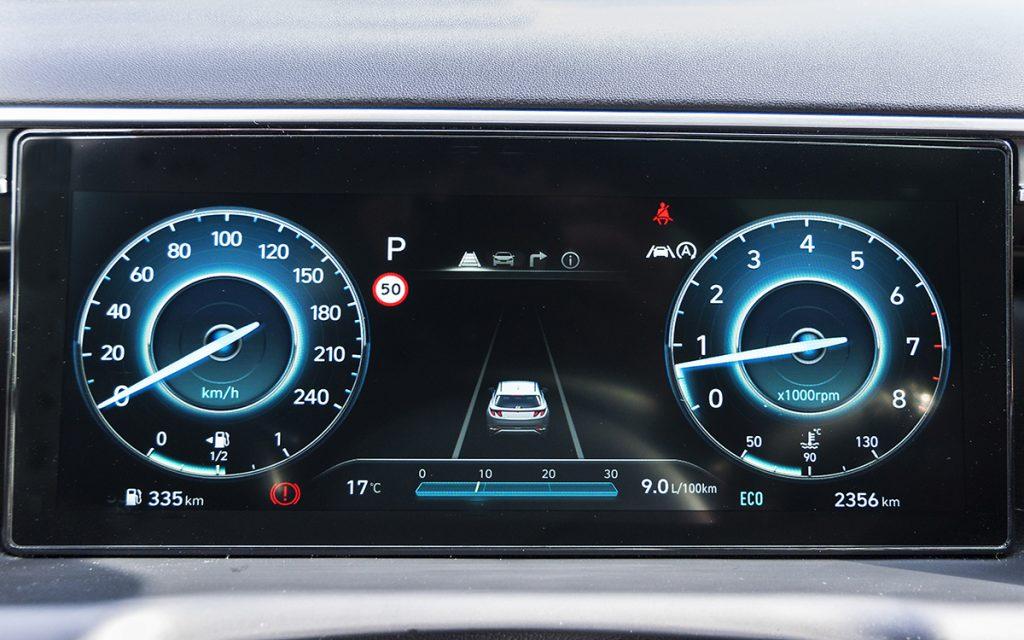 Virtual Cockpit del Hyundai Tucson